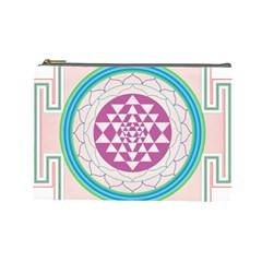 Mandala Design Arts Indian Cosmetic Bag (large)