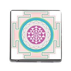 Mandala Design Arts Indian Memory Card Reader (square)