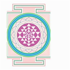 Mandala Design Arts Indian Small Garden Flag (two Sides)