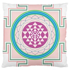 Mandala Design Arts Indian Large Cushion Case (two Sides)
