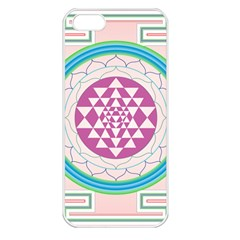 Mandala Design Arts Indian Apple Iphone 5 Seamless Case (white)