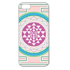 Mandala Design Arts Indian Apple Seamless Iphone 5 Case (clear)