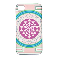 Mandala Design Arts Indian Apple Iphone 4/4s Hardshell Case With Stand