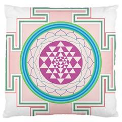Mandala Design Arts Indian Standard Flano Cushion Case (two Sides)