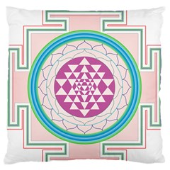 Mandala Design Arts Indian Large Flano Cushion Case (one Side)