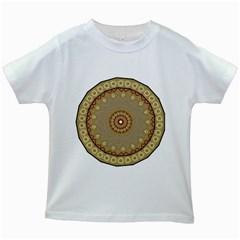 Mandala Art Ornament Pattern Kids White T Shirts