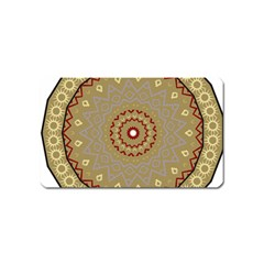 Mandala Art Ornament Pattern Magnet (name Card)