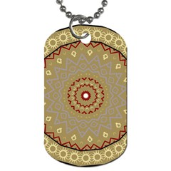 Mandala Art Ornament Pattern Dog Tag (two Sides)
