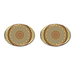 Mandala Art Ornament Pattern Cufflinks (oval)