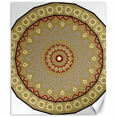 Mandala Art Ornament Pattern Canvas 8  X 10