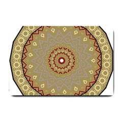 Mandala Art Ornament Pattern Small Doormat