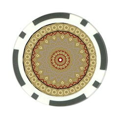 Mandala Art Ornament Pattern Poker Chip Card Guard (10 Pack)
