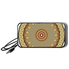 Mandala Art Ornament Pattern Portable Speaker (black)