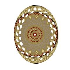 Mandala Art Ornament Pattern Ornament (oval Filigree)