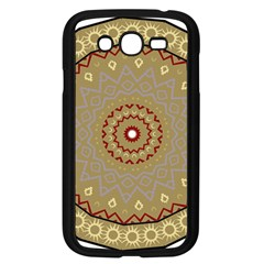 Mandala Art Ornament Pattern Samsung Galaxy Grand Duos I9082 Case (black)