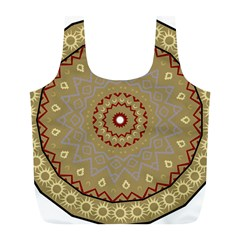 Mandala Art Ornament Pattern Full Print Recycle Bags (l)