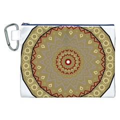Mandala Art Ornament Pattern Canvas Cosmetic Bag (xxl)