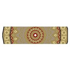 Mandala Art Ornament Pattern Satin Scarf (oblong)