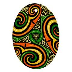 Celtic Celts Circle Color Colors Ornament (oval)