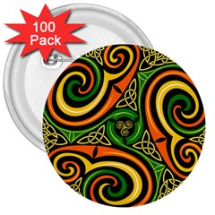 Celtic Celts Circle Color Colors 3  Buttons (100 Pack)