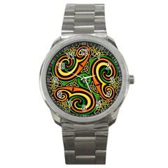 Celtic Celts Circle Color Colors Sport Metal Watch
