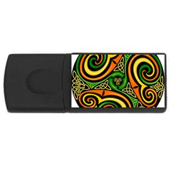 Celtic Celts Circle Color Colors Rectangular Usb Flash Drive