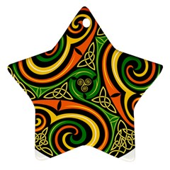 Celtic Celts Circle Color Colors Star Ornament (two Sides)