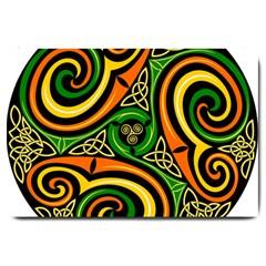 Celtic Celts Circle Color Colors Large Doormat