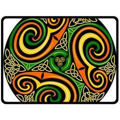 Celtic Celts Circle Color Colors Fleece Blanket (large)