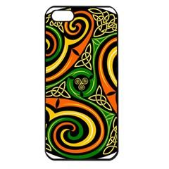 Celtic Celts Circle Color Colors Apple Iphone 5 Seamless Case (black)