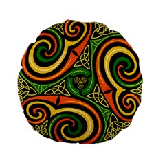 Celtic Celts Circle Color Colors Standard 15  Premium Round Cushions