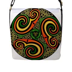 Celtic Celts Circle Color Colors Flap Messenger Bag (l)