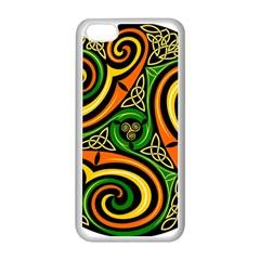 Celtic Celts Circle Color Colors Apple Iphone 5c Seamless Case (white)
