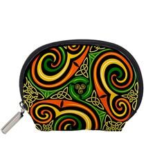 Celtic Celts Circle Color Colors Accessory Pouches (small)