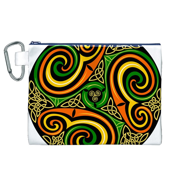 Celtic Celts Circle Color Colors Canvas Cosmetic Bag (XL)