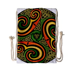 Celtic Celts Circle Color Colors Drawstring Bag (small)