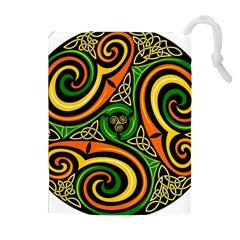 Celtic Celts Circle Color Colors Drawstring Pouches (extra Large)