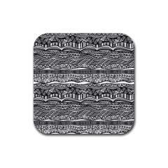 Ethno Seamless Pattern Rubber Coaster (square)