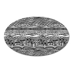 Ethno Seamless Pattern Oval Magnet