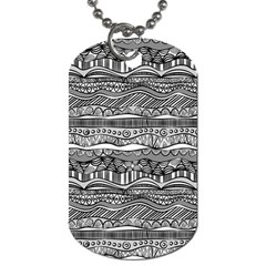 Ethno Seamless Pattern Dog Tag (one Side)