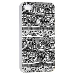 Ethno Seamless Pattern Apple Iphone 4/4s Seamless Case (white)