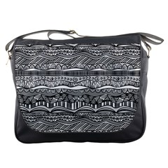Ethno Seamless Pattern Messenger Bags
