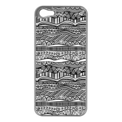 Ethno Seamless Pattern Apple Iphone 5 Case (silver)