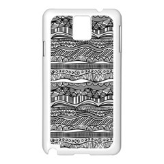 Ethno Seamless Pattern Samsung Galaxy Note 3 N9005 Case (white)