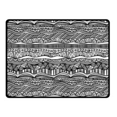 Ethno Seamless Pattern Double Sided Fleece Blanket (small)