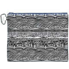 Ethno Seamless Pattern Canvas Cosmetic Bag (xxxl)