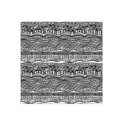 Ethno Seamless Pattern Satin Bandana Scarf