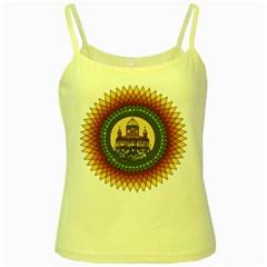 Building Mandala Palace Yellow Spaghetti Tank