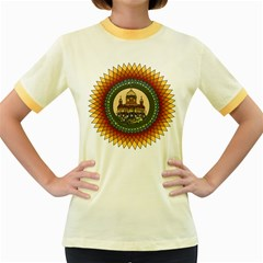 Building Mandala Palace Women s Fitted Ringer T Shirts