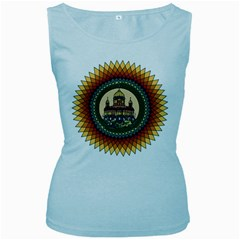 Building Mandala Palace Women s Baby Blue Tank Top